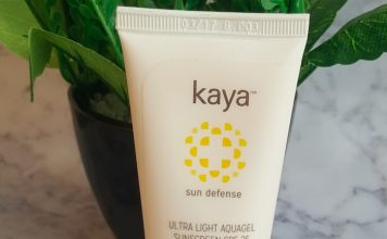 Kaya Ultra Light Aqua Sunscreen Gel SPF25 Review