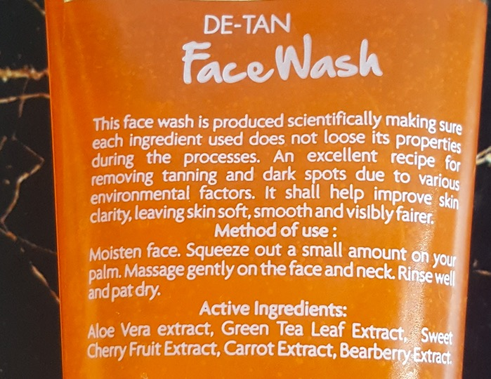 Jovees De-Tan Face Wash Review