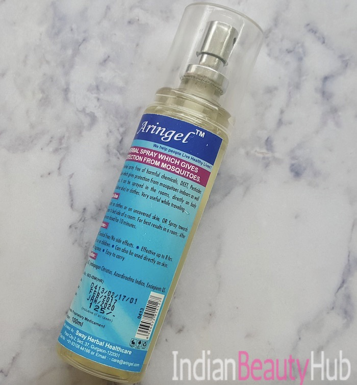 Aringel Mosquito Repellent Spray Mint Review