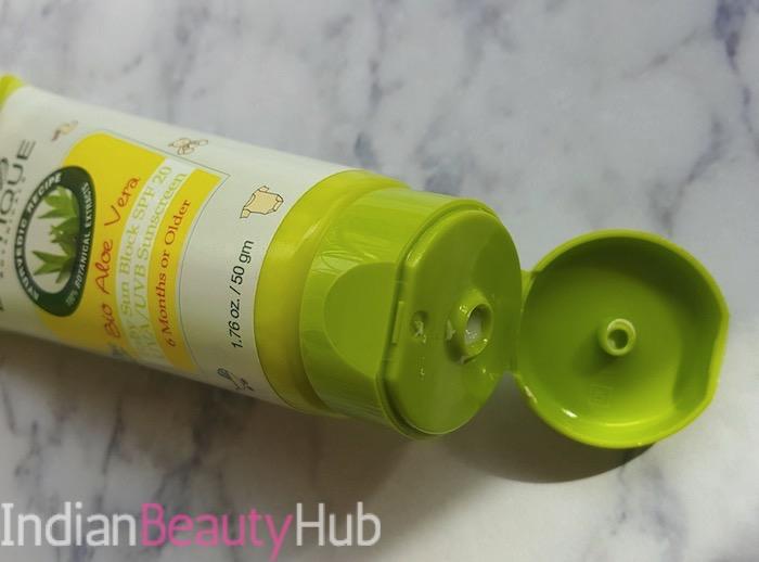 Baby Biotique Bio Aloe Vera Baby Sunblock SPF 20 Review