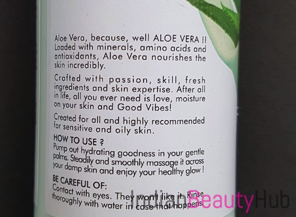 Good Vibes Soothing Body Lotion Aloe Vera