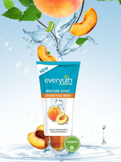 everyuth moisture boost cream face wash