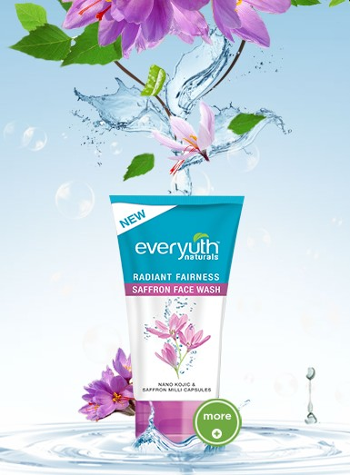 everyuth radiant fairness saffron face wash