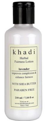 khadi herbal levender fairness lotion