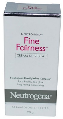 neutrogena fine fairness cream with spf20