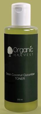 organic harvest green coconut cucumber toner