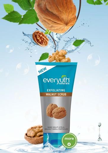 everyuth exfoliating walnut scrub