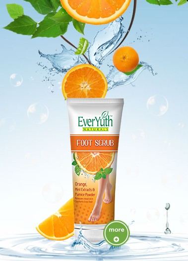 everyuth foot scrub orange