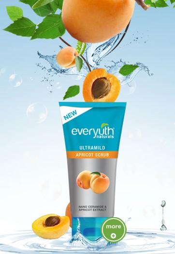 everyuth ultramild apricot scrub