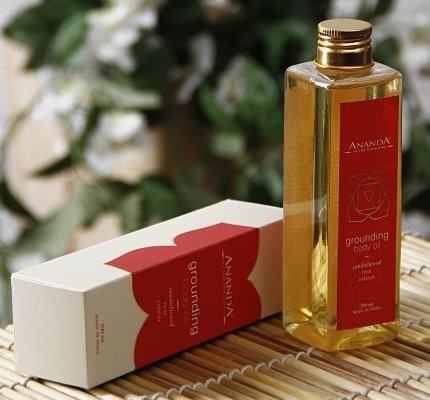 ananda grounding body oil