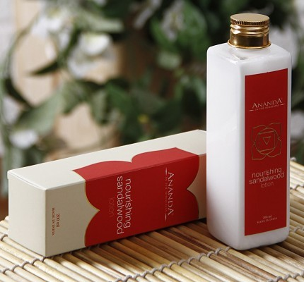 ananda nourishing sandalwood lotion