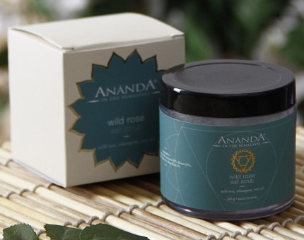 ananda wild rose salt scrub bath salt