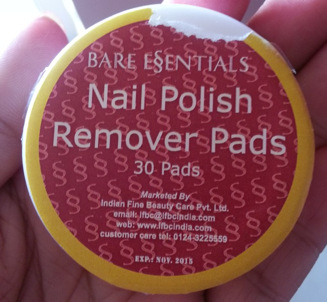 bare essentials nail polish remover pads 5