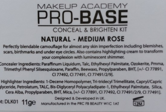 mua pro-base conceal & brighten 3