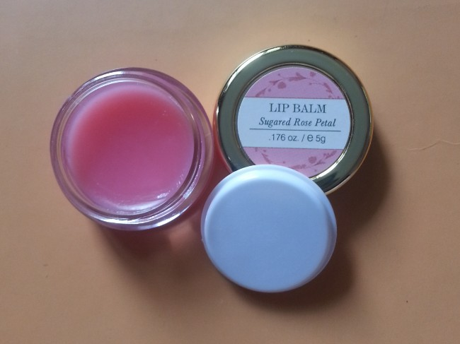 forest essentials sugared rose petal lip balm review 2