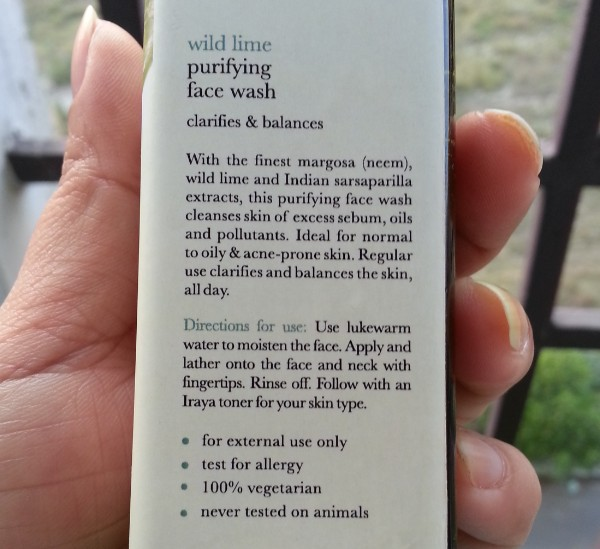 iraya wildlime purifying face wash review