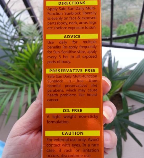 lotus herbals safe sun daily multi-function sunblock SPF70 review 7