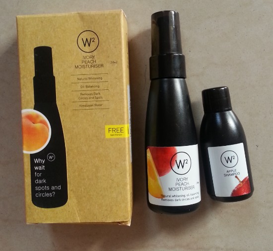 w2 (why wait) ivory peach moisturizer