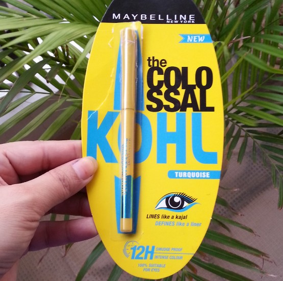 maybelline colossol kohl torquoise review 2