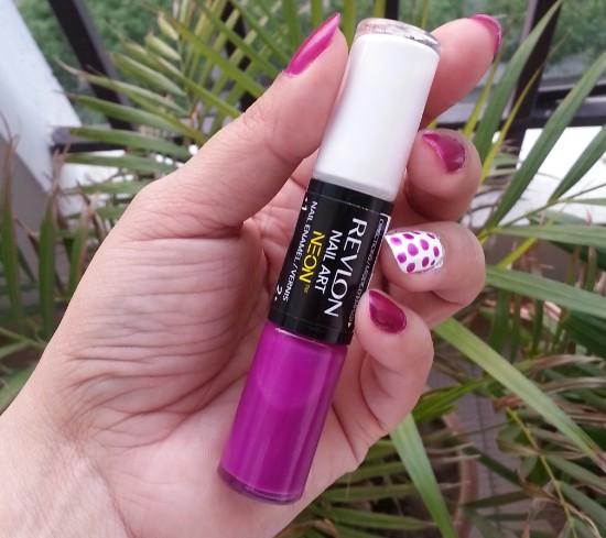 revlon nail art neon ultra violet nail enamel review 1