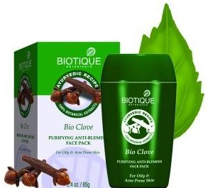 biotique bio clove purifying anti blemish  face pack