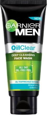 garnier men oil clear face wash