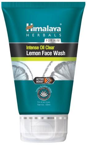 himalaya intense oil clear lemon face wash