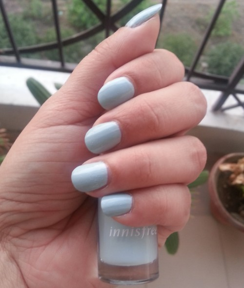 innisfree nail paint shade no.7 review 1