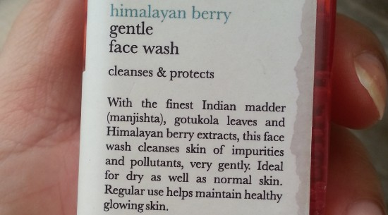 iraya himalayan berry gentle face wash review