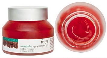 iraya manjishtha eye contour gel