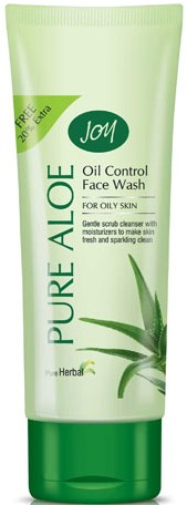 joy pure aloe oil control face wash