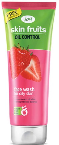 joy skin fruits oil control  face wash
