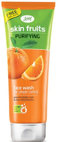 joy skin fruits purifying face wash