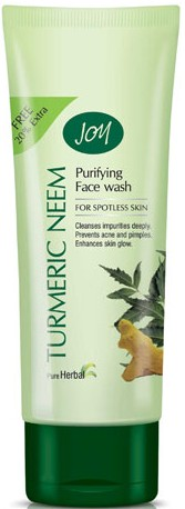 joy turmeric neem purifying face wash