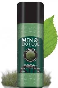 men biotique bio wild grass after shaving gel