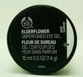 the body shop elderflower unperfumed eye gel