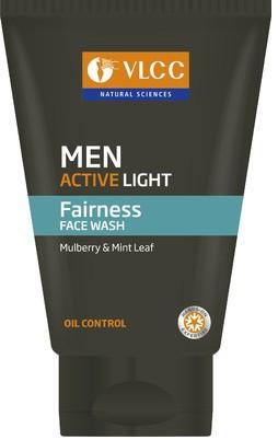 vlcc men active light fairness face wash