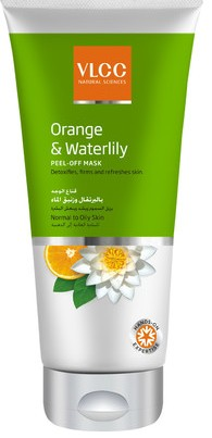 vlcc orange & waterlily peel off mask