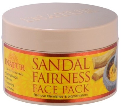 inatur herbals sandal fair ness face pack
