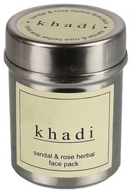 khadi sandal & rose herbal face pack