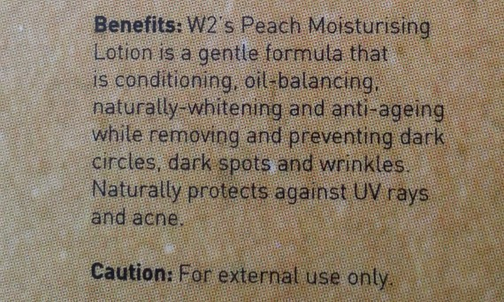 w2 ivory peach moisturizer review 3