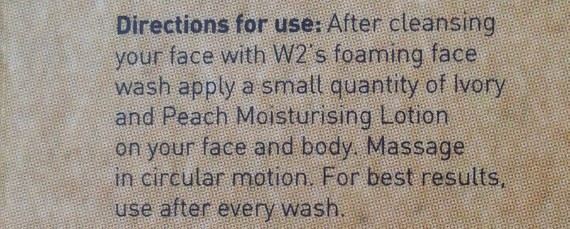 w2 ivory peach moisturizer review 4