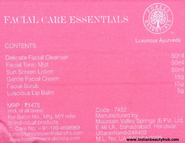 Forest Essentials Ladies Essential Travel Kit Review