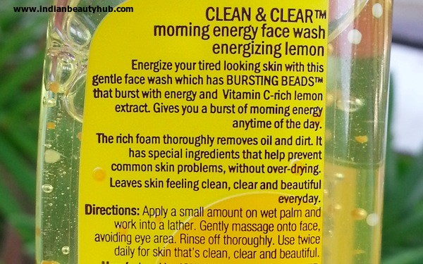 clean & clear morning energy face wash review eneryizing lemon 3