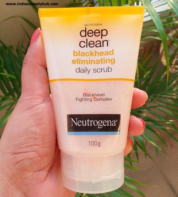 Neutrogena Deep Clean Blackhead Eliminating Daily Scrub Review - Indian Beauty Hub