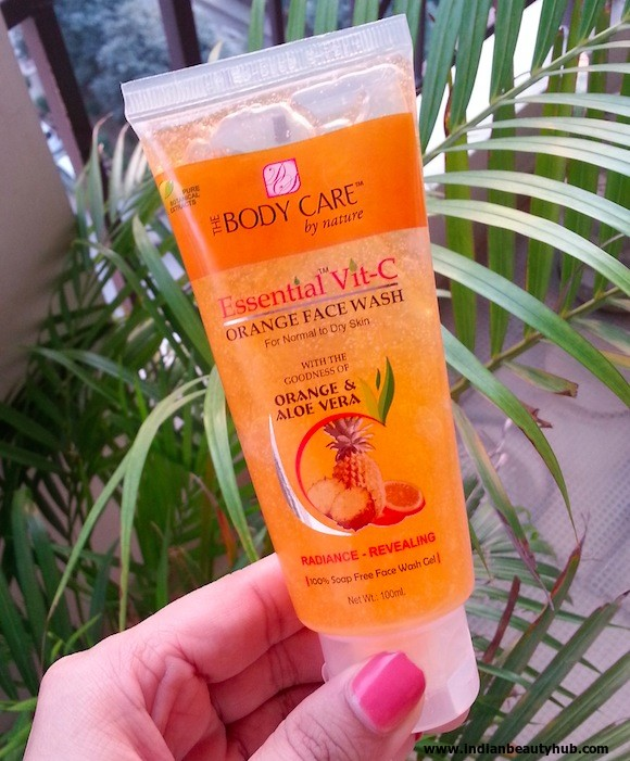 the body care essential vit-c orange face wash review