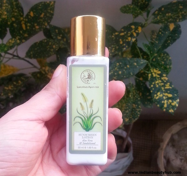 Forest Essentials Sunscreen Lotion Review
