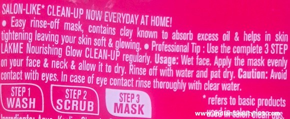 Lakme Clean Up Nourishing Glow Face Mask Review