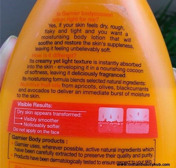 Garnier Body Cocoon Intense Moisture Lotion Review