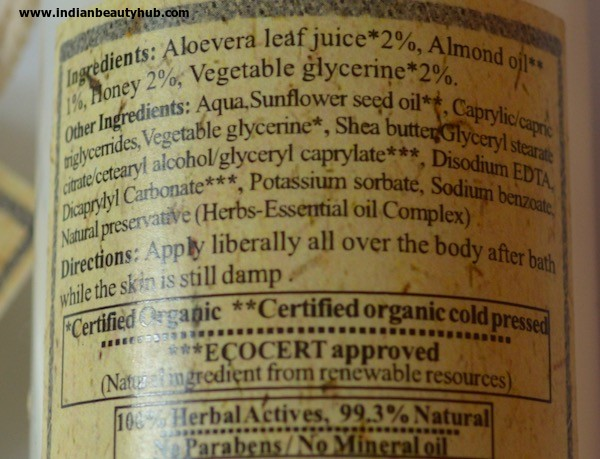 Just Herbs Honeydew Protective Almond Body Lotion review 3